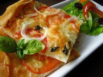 Phyllo Dough Pizza! 160 Calories (Makes one serving ...