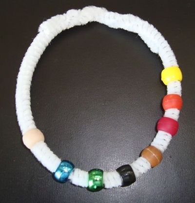 Thanksgiving pony bead bracelet