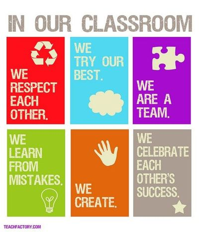 Classroom rules to live by...