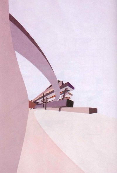 Zaha Hadid, 1982-1983 - From an unbuilt project entitled �€˜The Peak' in Hong Kong