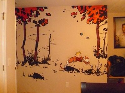 calvin and hobbes wallpaper decal geeking juxtapost. Black Bedroom Furniture Sets. Home Design Ideas