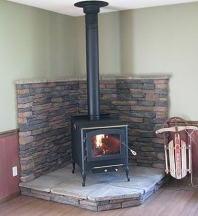 Wood Stove Surround For The Home Juxtapost