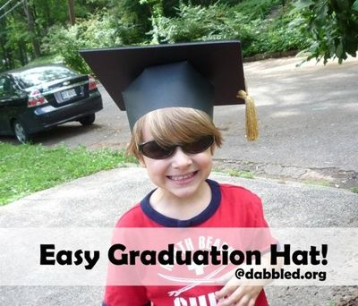 How to make your own graduation hats out of paper.