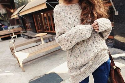 Big comfy sweater / womens apparel - Juxtapost