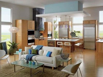 Open Concept Kitchen And Living Room The Style Of The Kitch For The Home Juxtapost