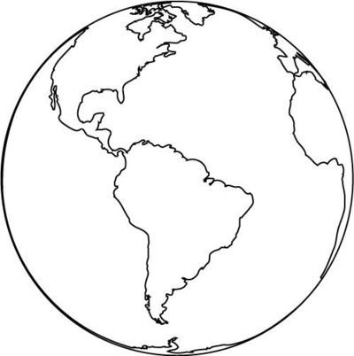 Large Earth Coloring Page Great For Day Crafts