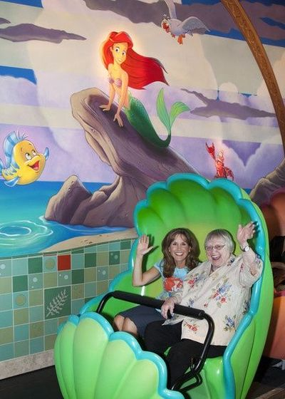Jodi Benson and Pat Caroll, the voices of Ariel and Ursula ...