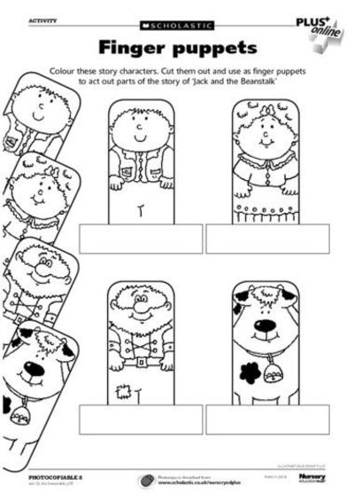 Templates of christmas finger puppets printable new for Cut out character template