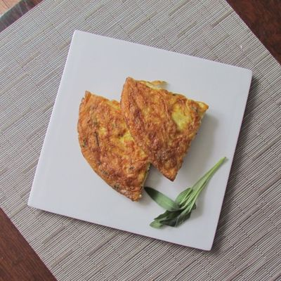 Spaghetti Frittata: Leftover spaghetti remade into a frittata for a traditional Italian breakfast