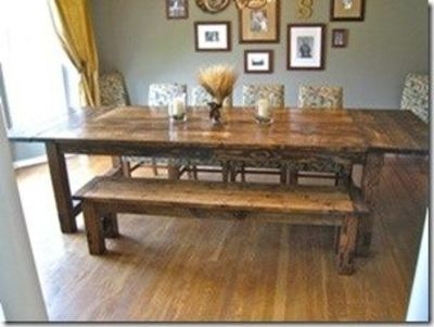 Diy Farmhouse Table Plans Love This For My Backyard Juxtapost