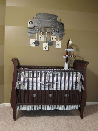 antique car themed room for a boy. With Ford as a last name ...