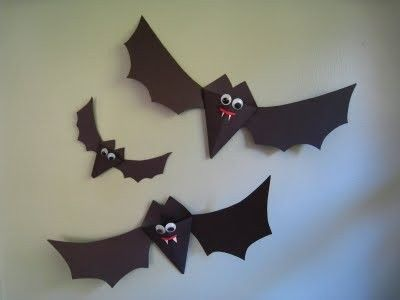 Craft Ideas Bats on Halloween Craft For Kid  Paper Bats   Crafts Ideas   Crafts For Kids