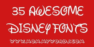35 Awesome And Free Disney Fonts W Link To Diy Disney