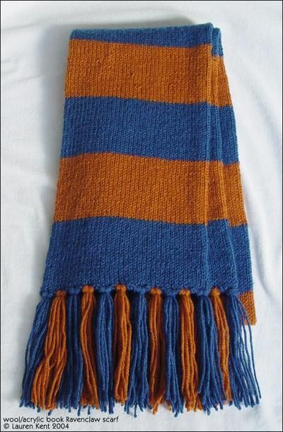 Harry Potter Hogwarts Scarf Knitting Pattern / knits and kits - Juxtapost