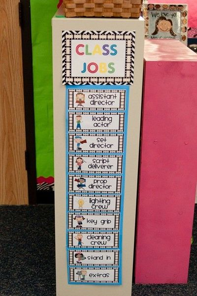 Classroom Job Ideas For Kindergarten : Cute job chart preschool items juxtapost