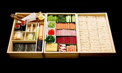How insanely beautiful is this VIP sushi to-go box from Nobu?