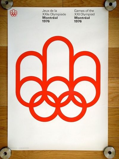 1976 Montréal Olympics Poster by Georges Huel & Pierre-Yves Pelletier