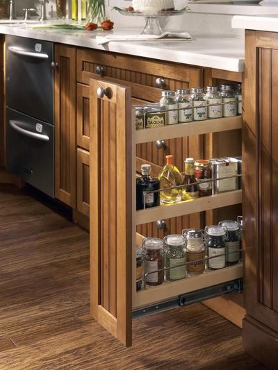 Verticle pull out spice oil rack kitchen juxtapost - Keukenkast outs ...