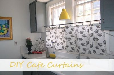 Diy cafe curtains to hide a window ac unit from the - How to hide window ac unit ...