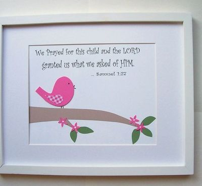 Cute Christian wall art for baby's nursery. This would look awesome in ...