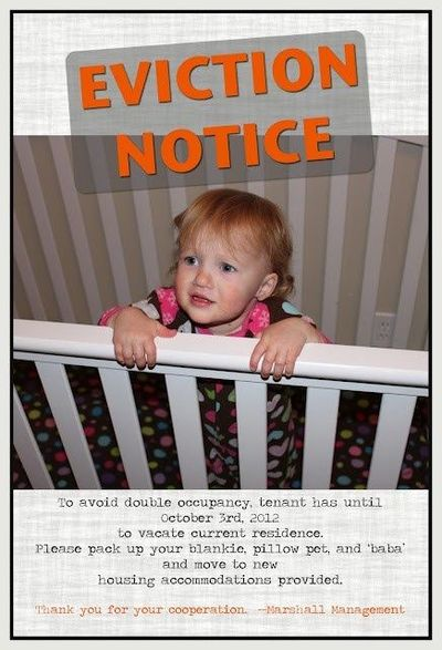 Crib Eviction Notice / Baby