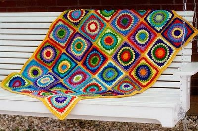 Crochet Square Patterns Circle Afghan Crochet Pattern