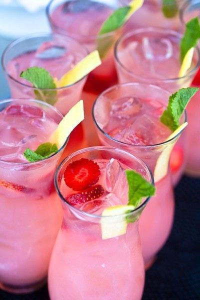 Strawberry Vodka Sparklers yummy-drinks / fab drinks - Juxtapost