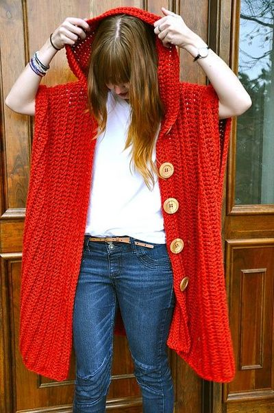 Ravelry The Hooded Poncho Pattern By Sara Dudek Crochet Ideas And
