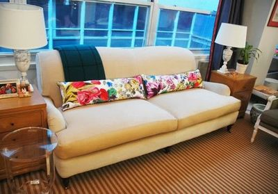 English Roll Arm Sofa From Lee Industries