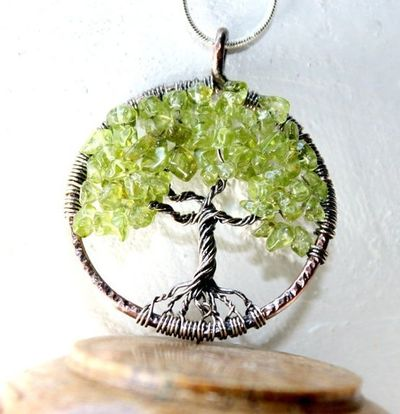 Life necklace august birthstone family tre jewelry juxtapost
