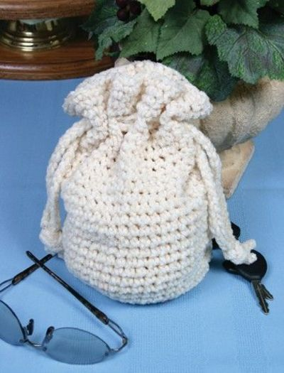 String Bag Crochet Pattern : Free Crochet Drawstring Bag Pattern. / crochet ideas and tips ...