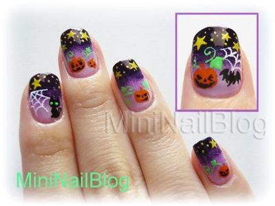 Mini Nail Blog Halloween Nail Art No9 G Halloween