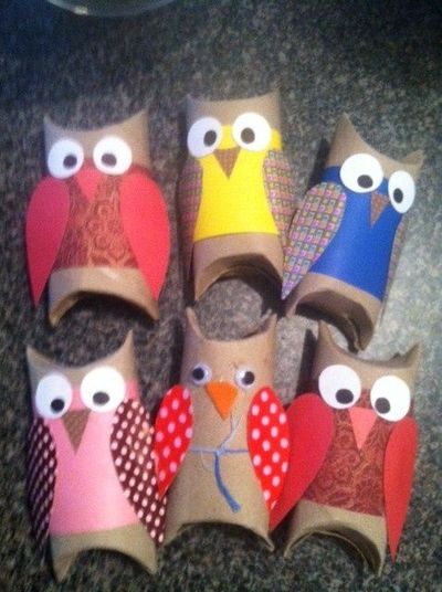 Toilet paper roll owls for your many uses of toilet paper for Toilet paper tube owls