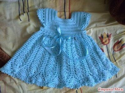 Free Crochet Pattern For A Baby Dress : free crochet baby dress pattern