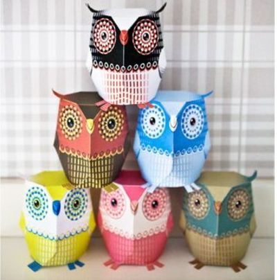 Printable 3D Owl Template