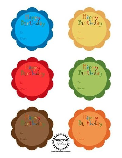 graphic relating to Free Printable Birthday Labels called Stunning totally free printable joyful birthday labels in opposition to Pretty Bl