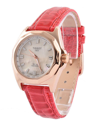Tissot PRC 200 Mens Cream Leather Watch T0144101603704 :$51.00