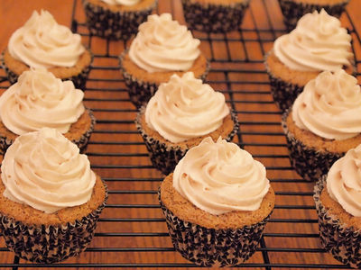 Cappuccino Cupcakes With Whipped Cinnamon Buttercream: Coffee & cinnamon-flavored cupcakes with rich cinnamon buttercream