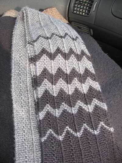 Chevron Scarf From Rave Rely Like The Pattern Also The Colo Best Chevron Scarf Knitting Pattern