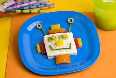 "Having a robot themed party? Or maybe your kids just love Robots. Well, here is a fun food to serve and the jkids can even make their own Robot sandwich. Plan a ""Make your own Robot sandwich"" party and just set out one example with some food items..."