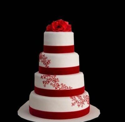Red and white wedding cake wedding cakes juxtapost red and white wedding cake junglespirit Image collections