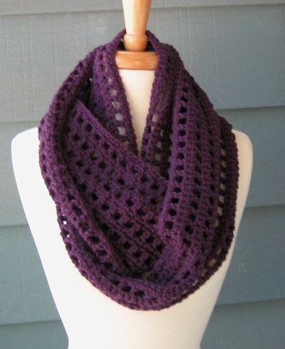 Free Patterns To And Crochet Infinity Scarf : Crochet PATTERN pdf Leah Infinity Scarf by ArtsyCrochet on ...