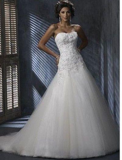 Maggie Sottero Strapless Ball Gown in Tulle, Kleinfeld / gowns ...