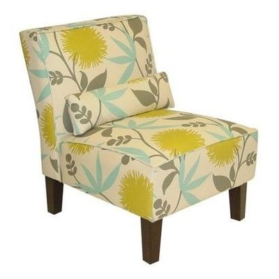 Yellow Blue Accent Chair