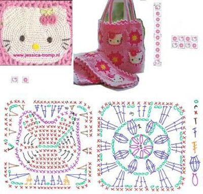 Hello Kitty Tote Bag To Crochet Crochet Free Patterns On Tumblr