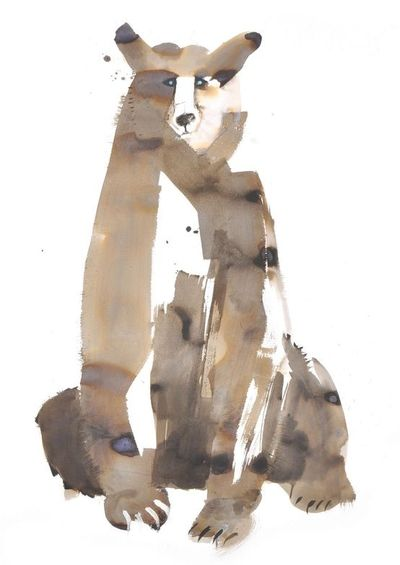 Illustration by Sarah Maycock. #watercolor #bear