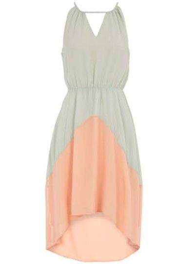 Mint and Pink deco dip dress