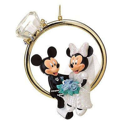 Wedding Ring Minnie And Mickey Mouse Ornament Wonderful World Of Disney J
