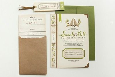 Book Themed Wedding Invitations could be nice ideas for your invitation template