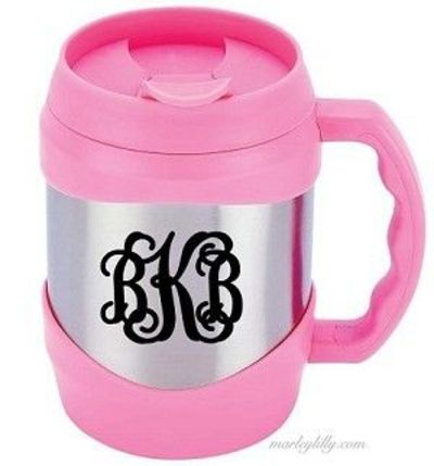 Monogrammed Kegger Mug..Football Season!!??